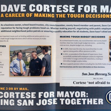 David Cortese – Primary – Tough