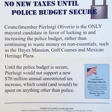 Pierluigi Oliverio- Primary – Police Budget Security