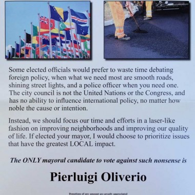 Pierluigi Oliverio – Primary – Local Priorities