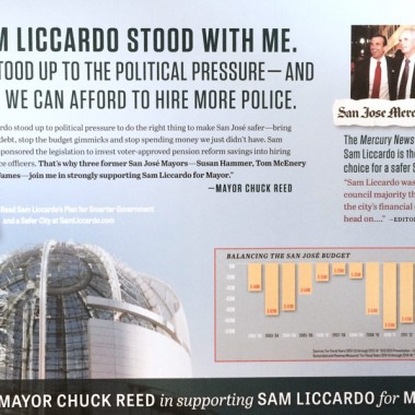 Official Liccardo Campaign Mailer – Mayor Reed Support