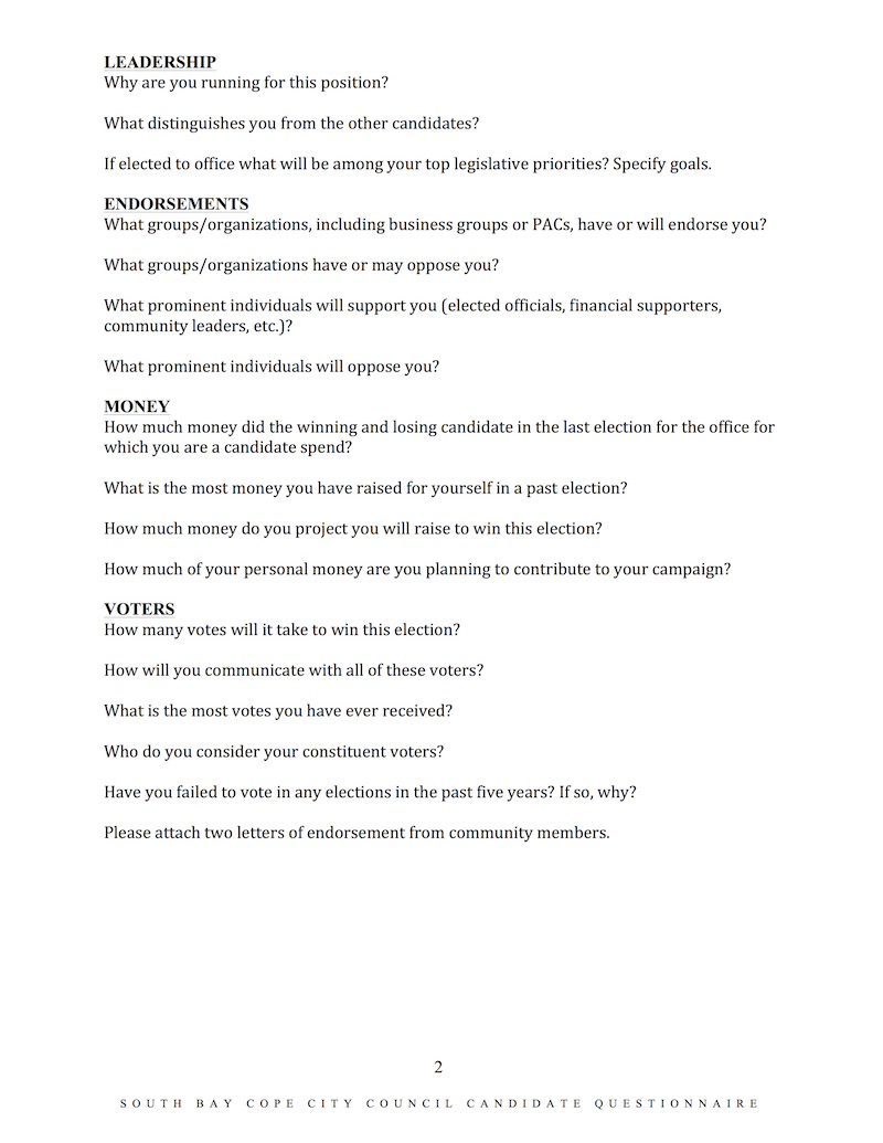 South Bay Labor Candidate Questionnaire2